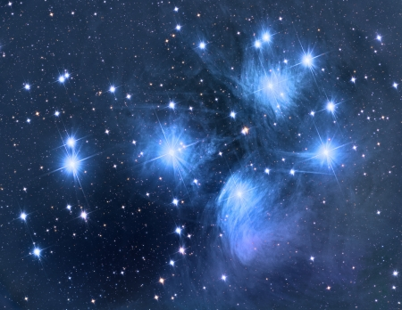 interstellar: Pleiades open star cluster