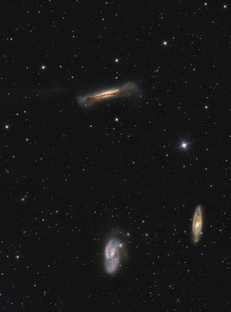 Leo Triplet Galaxies in constellation Leo