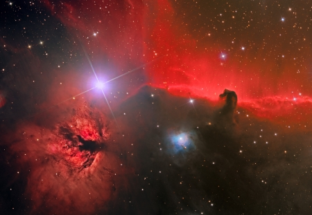galactic: HorseHead and Flame Nebula