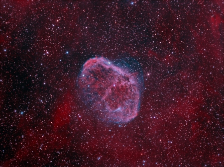 messier: NGC6888 Crescent Nebula Stock Photo