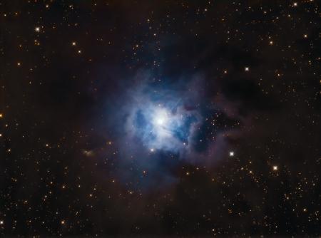 NGC7023 Iris Nebula Stock Photo