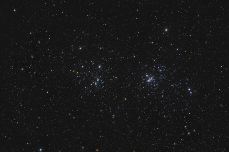 Double Open Cluster in Perseus Stock Photo