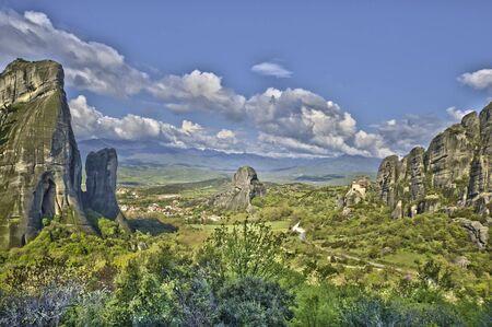 meteora: The rocks of Meteora Stock Photo