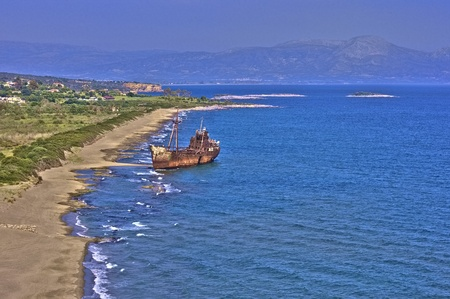 Ship Wreck at Gythion in Greece