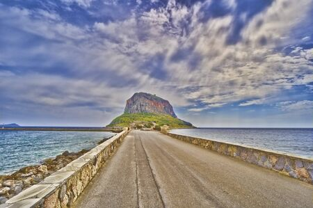 Island of Monemvasia in Greece Stock Photo