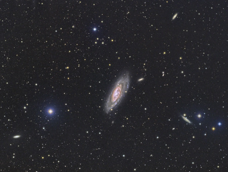 galaxies imaged with a telecope and a scientific CCD camera Stock Photo