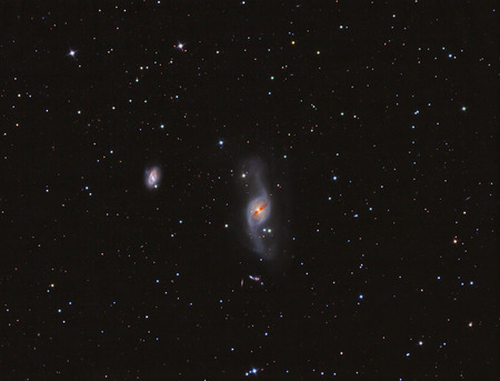 ccd: NGC 3718 Galaxy imaged with a telescope and a scientific CCD camera