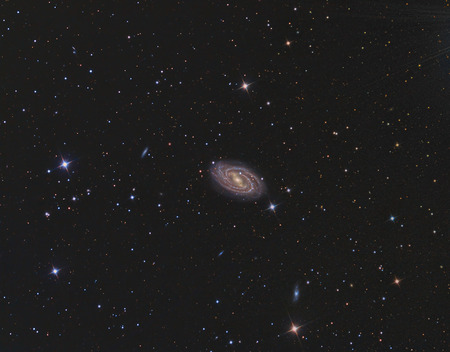 M109 Galaxy imaged with a telescope and a scientific CCD camera