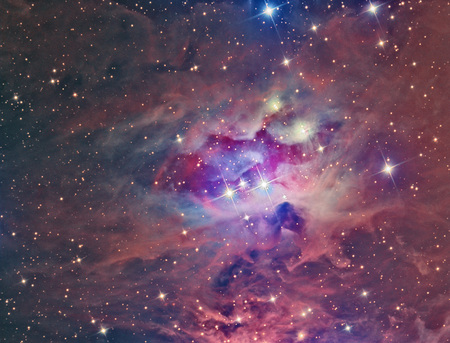 ccd: NGC 1973 Running Man Nebula imaged with a telescope and a scientific CCD camera