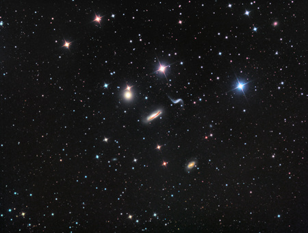 Hickson 44 Galaxy Group imaged with a telescope and a scientific CCD camera