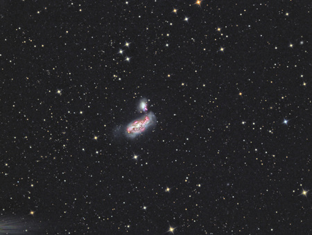 imaged with a telescope and a scientific CCD camera