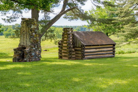 Replica Revolutionary housing at Valley Forge Stock Photo