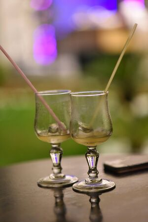 Empty wine glasses Zdjęcie Seryjne