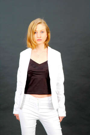 pantsuit: Young woman as a fashion model