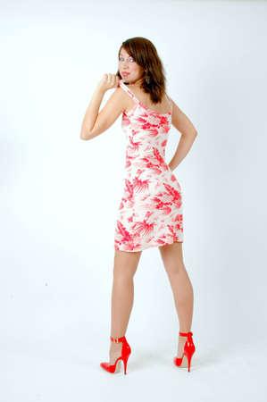 young woman as a fashion model