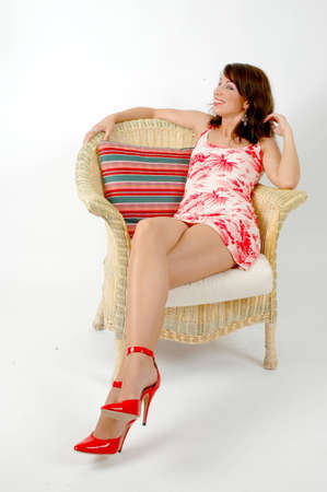 Young woman in Photopose Stock Photo