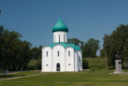reverent: Vintage church, Pereslavl-Zalesskiy, Russia Stock Photo
