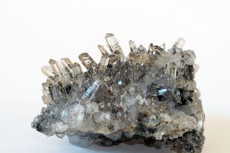 hydrothermal: Druze of quarz crystal from Armenia