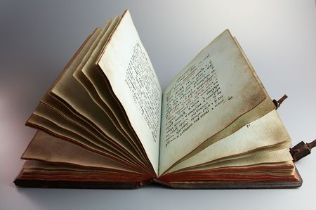 Antique book on gray