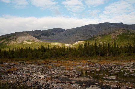 the Khibiny Mountains, Kola Peninsula, Russia Stock Photo