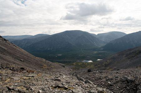 de Khibiny Bergen, schiereiland Kola, Rusland Stockfoto