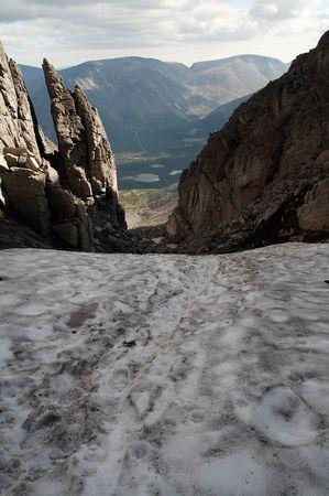 Pass in the Khibiny Mountains, Kola Peninsula, Russia