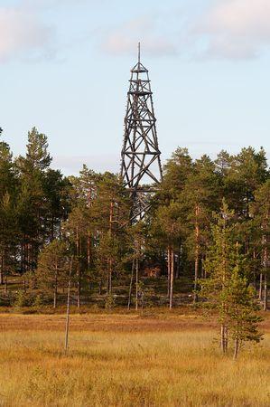 triangulation: wooden triangulation point in Russian North