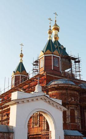 reverential: Vecchia chiesa in muratura Kolomna, in Russia Archivio Fotografico