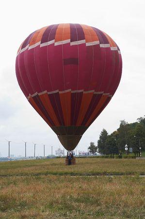 Ballon bereid te vliegen op eath Stockfoto