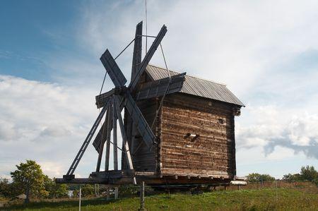 Windmolens op Kizhy eiland, Rusland