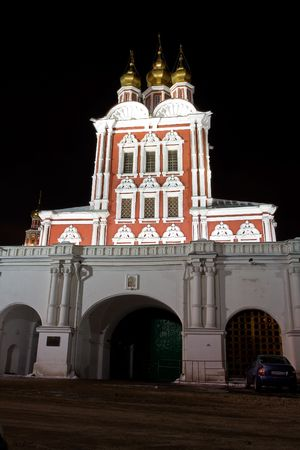 Night scenery of Novodevichiy monastery, Moscow, Russia