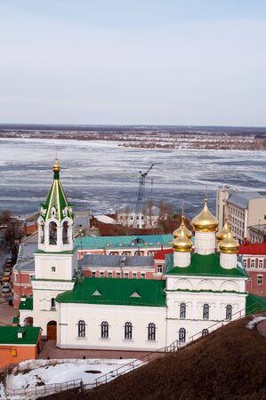 reverential: Chiesa d'epoca in inverno, Nizhniy Novgorod, Russia