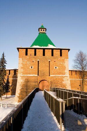 Citadel in Nizhniy Novgorod on Volga and Oka rivers Stock Photo