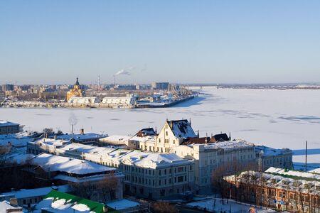 Volga and Oka rivers in Nizhniy Novgorod, Russia