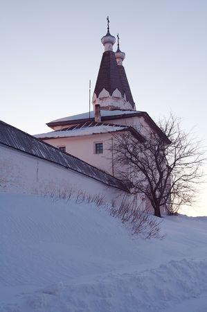 reverential: Little Ferapontovo monastero nel villaggio, la Russia