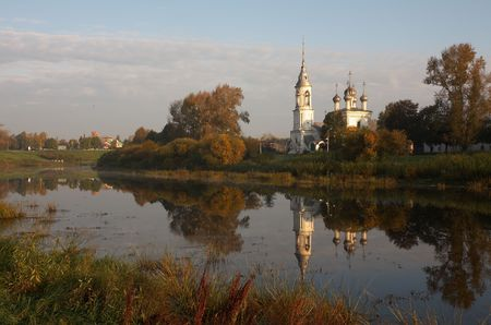 Old belfry in Vologda, Russia