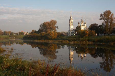 reverential: Vecchio campanile a Vologda, Russia Archivio Fotografico