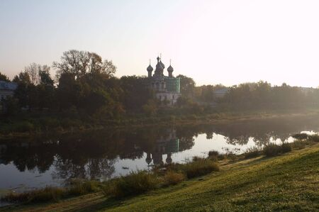 reverent: Old masonry church in Vologda, Russia Stock Photo