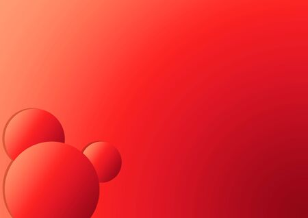 Trending Red Gradient Circles on red