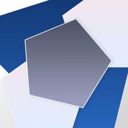 Modern Cool Empty Pentagon Design Background Template-For Banner, Poster, Card & Social Media