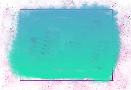 Empty Rectangle Frame With Blue Spray Design On White Background Template-For Banner, Poster, Card & Photo Frame Kho ảnh