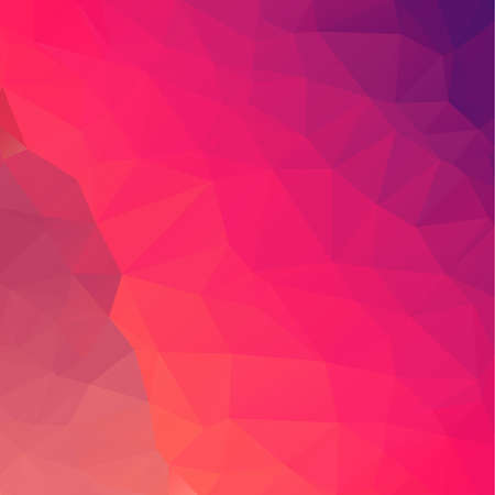 Purple & Orange Shades Abstract Low Poly Geometric Polygonal Background Vector Illustration