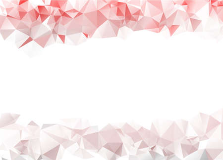 Red & Grey Crystals Triangles On Upper & Lower Side Abstract Low Poly Polygonal Background Vector Illustration
