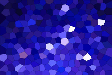 Abstract Dark Blue Shades Modern Mosaic Tiles Material Texture Background
