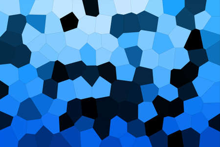 Abstract Blue & Black Shades Modern Mosaic Tiles Material Texture Background