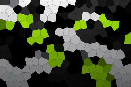 Abstract Grey & Green Modern Mosaic Tiles Material Texture Background