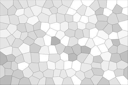 Abstract White & Grey Shades Modern Mosaic Tiles Material Texture Background