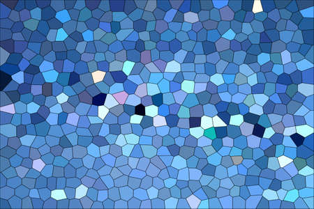 Abstract Blue Shades Modern Mosaic Tiles Material Texture Background