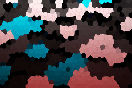 Abstract Lovely Blue, Pink & Brown Mosaic Tiles Material Texture Wallpaper Background