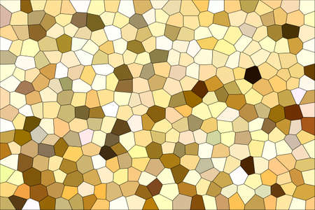 Abstract Brown Shades Modern Mosaic Tiles Material Texture Background